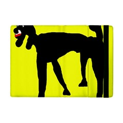 Black Dog Apple Ipad Mini Flip Case by Valentinaart