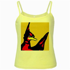 Angry Bird Yellow Spaghetti Tank by Valentinaart