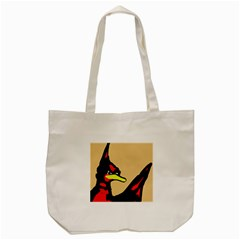 Angry Bird Tote Bag (cream) by Valentinaart