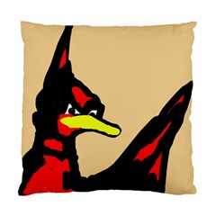 Angry Bird Standard Cushion Case (one Side) by Valentinaart