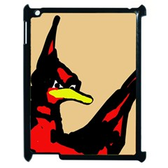 Angry Bird Apple Ipad 2 Case (black) by Valentinaart
