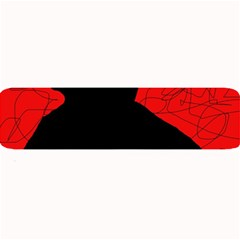 Red And Black Abstract Design Large Bar Mats by Valentinaart