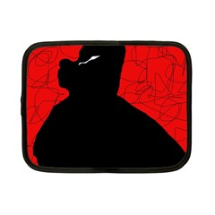 Red And Black Abstract Design Netbook Case (small)