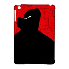 Red And Black Abstract Design Apple Ipad Mini Hardshell Case (compatible With Smart Cover) by Valentinaart