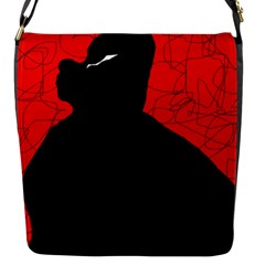 Red And Black Abstract Design Flap Messenger Bag (s) by Valentinaart
