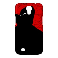 Red And Black Abstract Design Samsung Galaxy Mega 6 3  I9200 Hardshell Case by Valentinaart