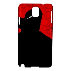 Red And Black Abstract Design Samsung Galaxy Note 3 N9005 Hardshell Case by Valentinaart