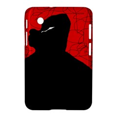 Red And Black Abstract Design Samsung Galaxy Tab 2 (7 ) P3100 Hardshell Case