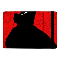 Red And Black Abstract Design Samsung Galaxy Tab Pro 10 1  Flip Case by Valentinaart