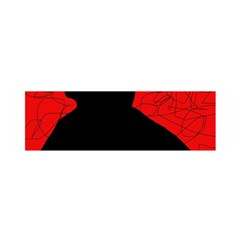 Red And Black Abstract Design Satin Scarf (oblong) by Valentinaart