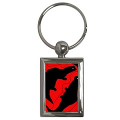 Black And Red Lizard  Key Chains (rectangle)  by Valentinaart