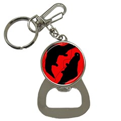 Black And Red Lizard  Bottle Opener Key Chains by Valentinaart