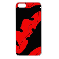 Black And Red Lizard  Apple Seamless Iphone 5 Case (clear) by Valentinaart