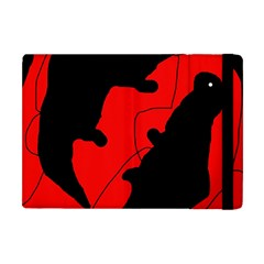 Black And Red Lizard  Apple Ipad Mini Flip Case by Valentinaart