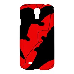 Black And Red Lizard  Samsung Galaxy S4 I9500/i9505 Hardshell Case by Valentinaart