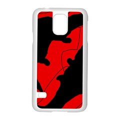 Black And Red Lizard  Samsung Galaxy S5 Case (white) by Valentinaart