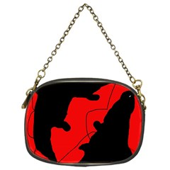 Black And Red Lizard  Chain Purses (one Side)  by Valentinaart
