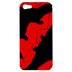 Black And Red Lizard  Apple Iphone 5 Hardshell Case by Valentinaart