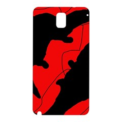 Black And Red Lizard  Samsung Galaxy Note 3 N9005 Hardshell Back Case by Valentinaart