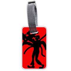 Abstract Man Luggage Tags (one Side)  by Valentinaart