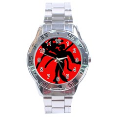 Abstract Man Stainless Steel Analogue Watch by Valentinaart