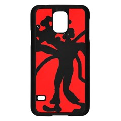 Abstract Man Samsung Galaxy S5 Case (black) by Valentinaart