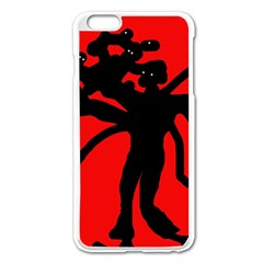 Abstract Man Apple Iphone 6 Plus/6s Plus Enamel White Case by Valentinaart