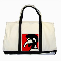 Man Two Tone Tote Bag by Valentinaart
