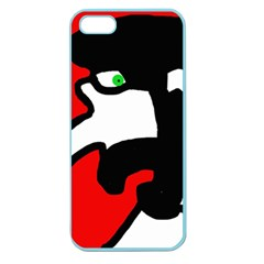 Man Apple Seamless Iphone 5 Case (color) by Valentinaart
