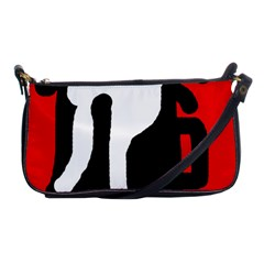 Red, Black And White Shoulder Clutch Bags by Valentinaart