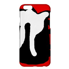 Red, Black And White Apple Iphone 6 Plus/6s Plus Hardshell Case by Valentinaart