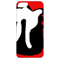 Red, Black And White Apple Iphone 5 Classic Hardshell Case by Valentinaart
