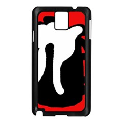 Red, Black And White Samsung Galaxy Note 3 N9005 Case (black) by Valentinaart