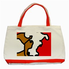 Artistic Cow Classic Tote Bag (red) by Valentinaart