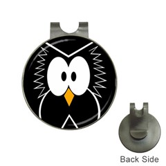 Black Owl Hat Clips With Golf Markers by Valentinaart