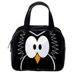 Black owl Classic Handbags (One Side) Front