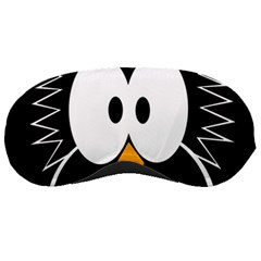 Black Owl Sleeping Masks by Valentinaart