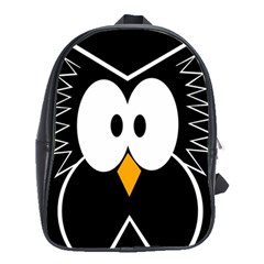 Black Owl School Bags(large)  by Valentinaart