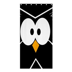 Black Owl Shower Curtain 36  X 72  (stall)  by Valentinaart