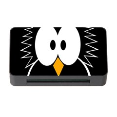 Black Owl Memory Card Reader With Cf by Valentinaart