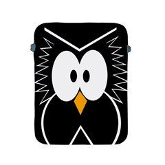 Black Owl Apple Ipad 2/3/4 Protective Soft Cases by Valentinaart