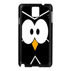 Black Owl Samsung Galaxy Note 3 N9005 Case (black) by Valentinaart