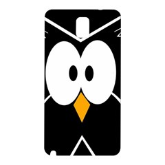 Black Owl Samsung Galaxy Note 3 N9005 Hardshell Back Case by Valentinaart