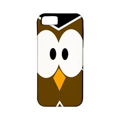 Brown Simple Owl Apple Iphone 5 Classic Hardshell Case (pc+silicone) by Valentinaart