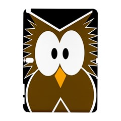 Brown Simple Owl Samsung Galaxy Note 10 1 (p600) Hardshell Case by Valentinaart