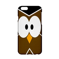 Brown Simple Owl Apple Iphone 6/6s Hardshell Case by Valentinaart