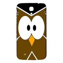Brown Simple Owl Samsung Galaxy Mega I9200 Hardshell Back Case by Valentinaart