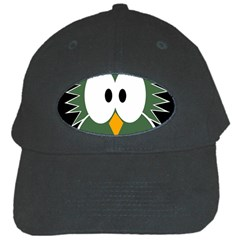 Green Owl Black Cap