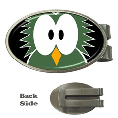 Green Owl Money Clips (oval)  by Valentinaart