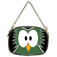 Green Owl Chain Purses (two Sides)  by Valentinaart